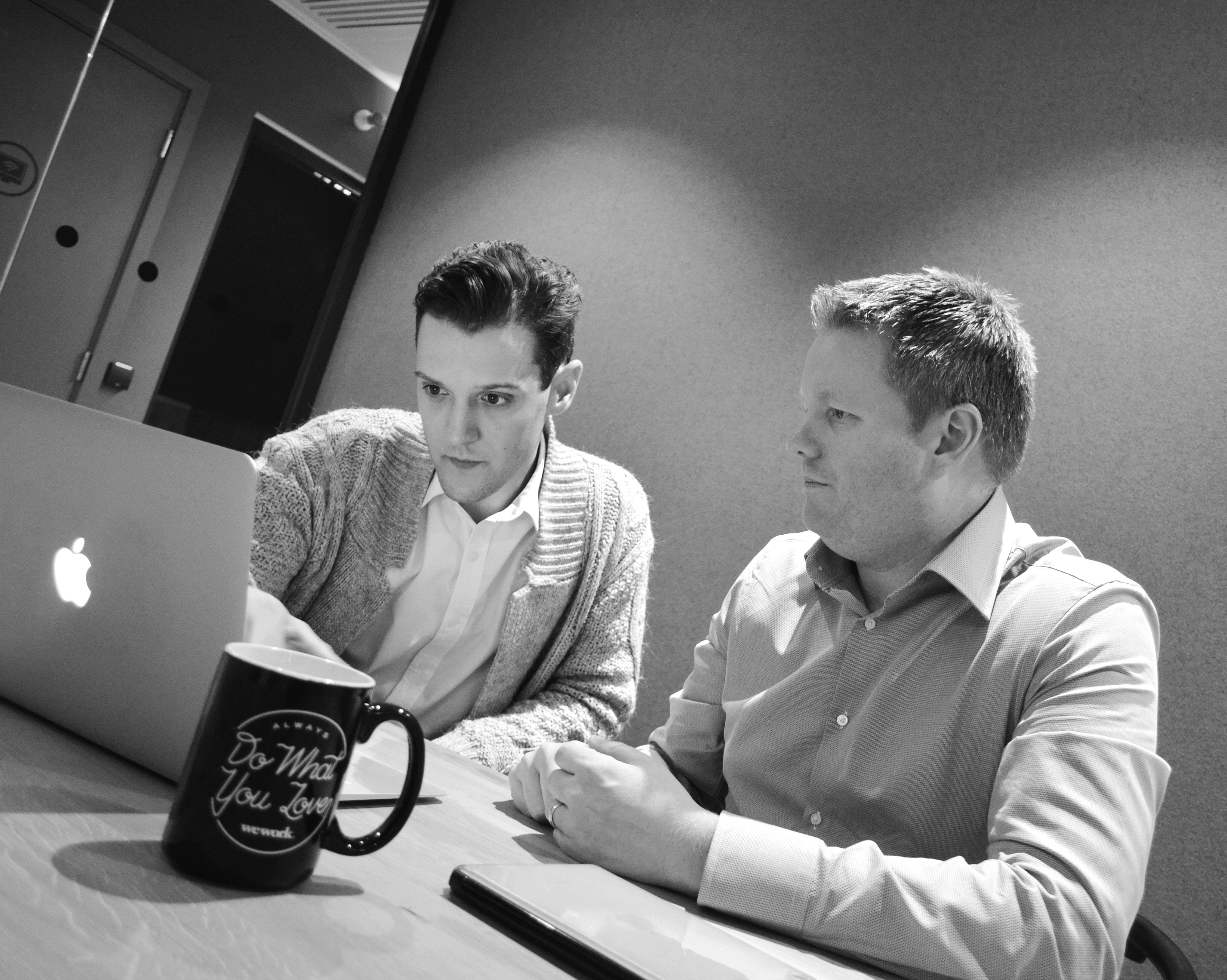 Andy Dargon with Neuxpower's new hire, digital marketing executive Paul Clerkin