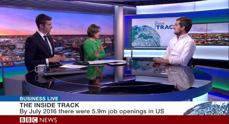 Jobbio On TV: BBC Business Live